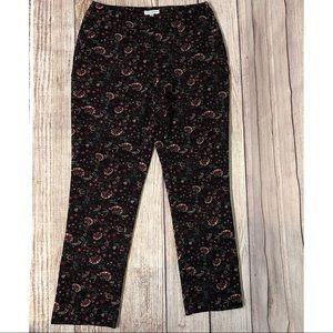Carolina Belle Montreal Black Floral Dress Pants